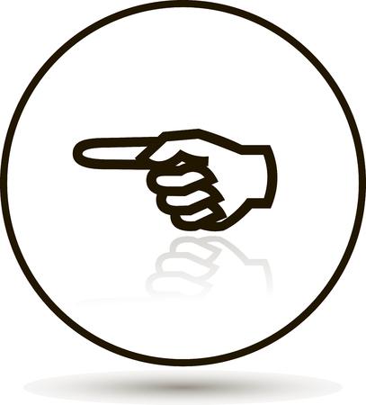 Finger showing direction
