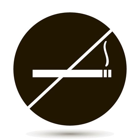 Vector icon prohibits smoking. Place indicating smoking is prohibited. No smoking