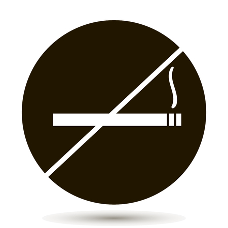 Vector icon prohibits smoking. Place indicating smoking is prohibited. No smoking