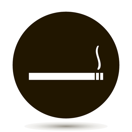 Vector icon indicates a smoking permission. Smoking area