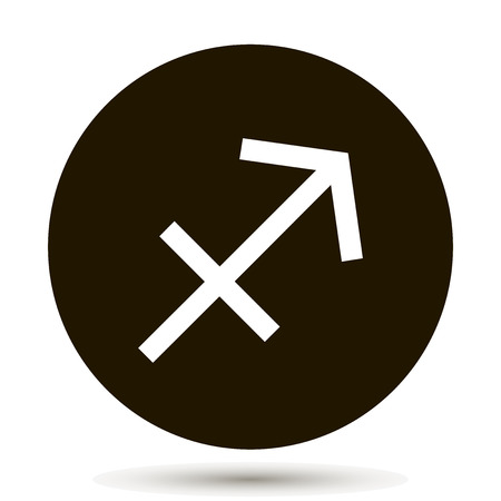 Sagittarius Zodiac Sign Astrological Symbol Icon In Circle
