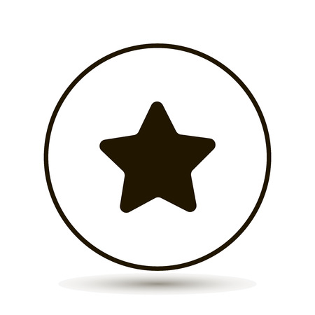 Five-pointed star on a white background. Vector illustration.Icon