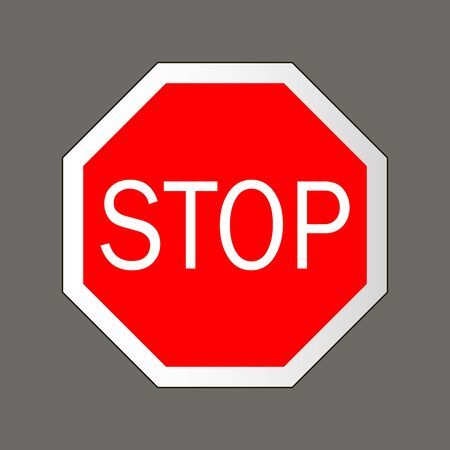 to warn: Stop. Road signs in the United States Stock Photo