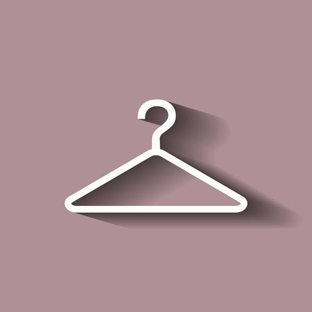 clothing rack: Hangers.Vector icon  with shadow. Illustration