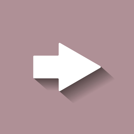 벡터 화살표 아이콘 그림자와 함께 오른쪽을 가리키는