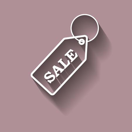 Vector icon keychain with a sale with shadow Ilustração