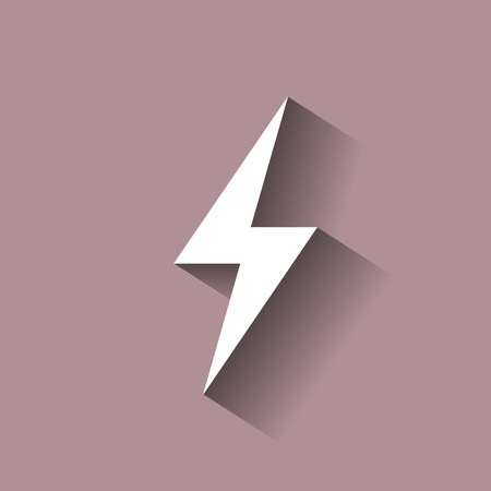 bolt: Vector electricity icon with shadow