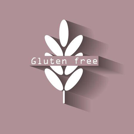 Gluten free. Ears of wheat, cereal. Ear of oats. rye ears. Stock Photo