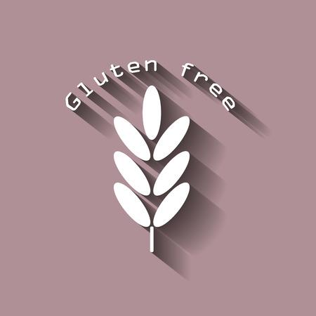 Gluten free. Ears of wheat, cereal. Ear of oats. rye ears.