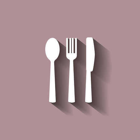 Knife, Fork, Spoon And Plate. Cutlery. Table Setting. Vector ...