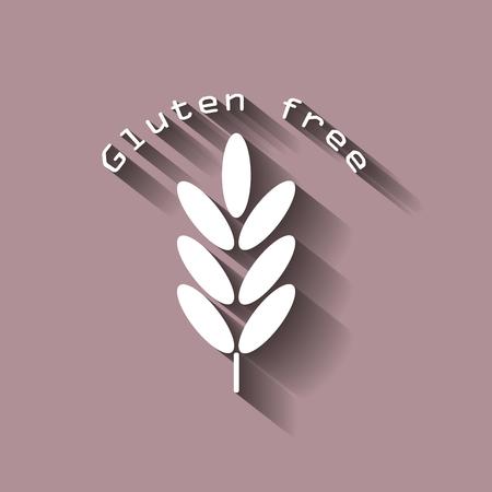 Gluten free. Ears of wheat, cereal. Ear of oats. rye ears. Illustration