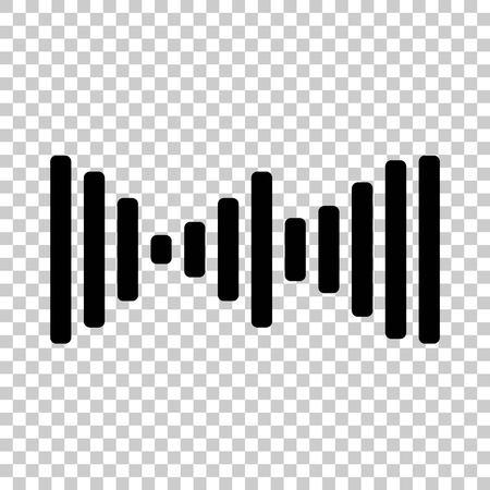 Vector icon of sound wave, sound