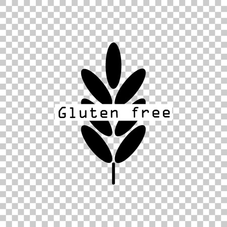 Gluten free. Ears of wheat, cereal. Ear of oats. rye ears. Vector icon illustration