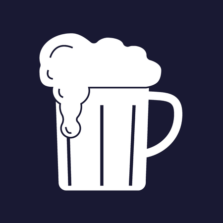 guinness: Vector icon of beer mug