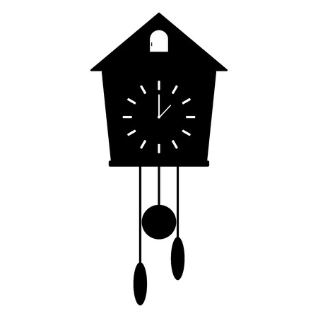 Black clock with a cuckoo design.