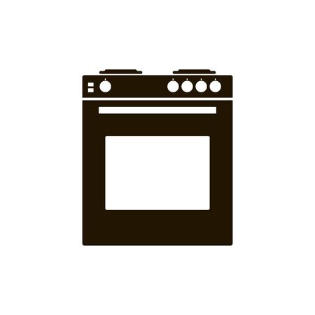 Gas stove with oven for a kitchen.
