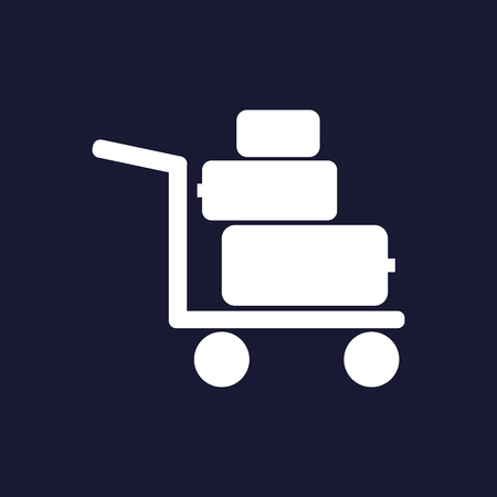 Vector icon shows the presence of porters on a dark blue background.