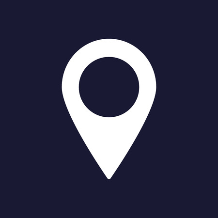 Vector positioning icon  Geolocation  Location  A mark on the