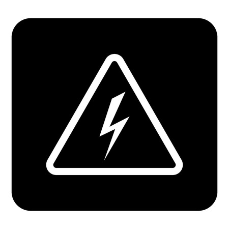 Vector electricity icon.  Vector white illustration on black background