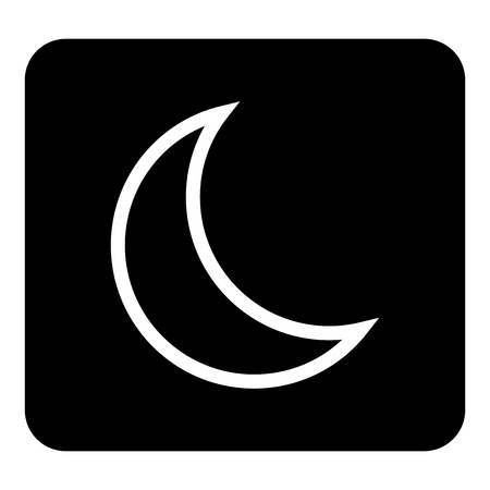 Vector moon icon. Sleep icon. Vector white illustration on black background Illustration