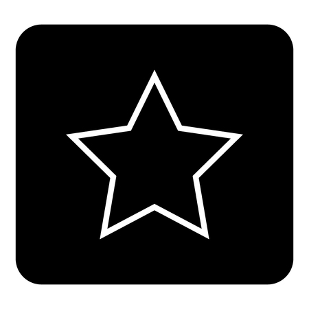 Vector icon five-pointed star. Vector white illustration on black background Illustration