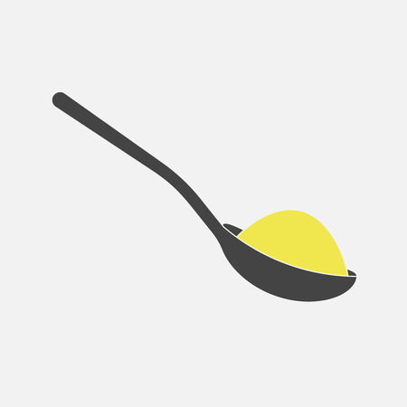 Vector icon of a spoon with sugar or salt Vettoriali
