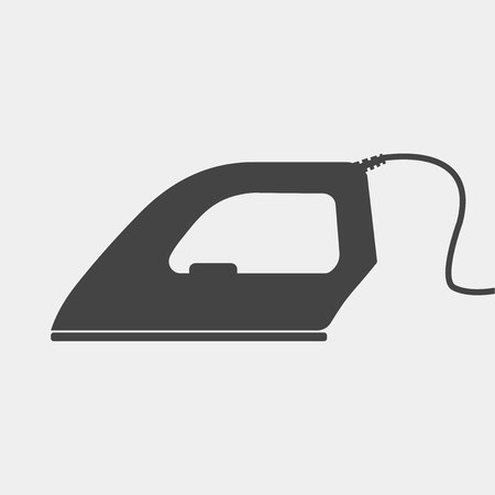 Vector icon iron. Home Appliances electric iron Illustration