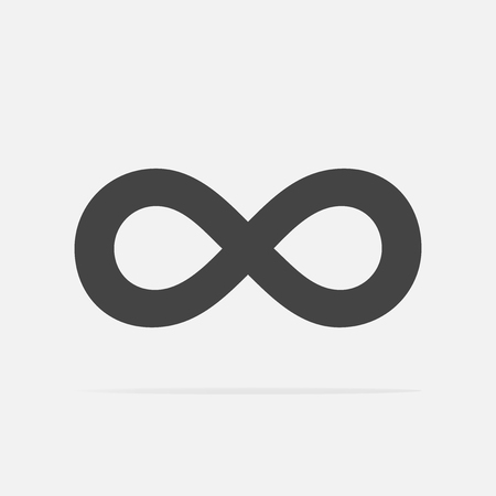 Vector image of the sign of infinity. Vector illustration infinity.