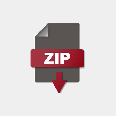 ZIP download icon on background. ZIP button.