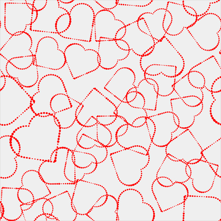 Valentines Day illustration pink pattern. Seamless wallpaer heart vector on pink and grey shadow.