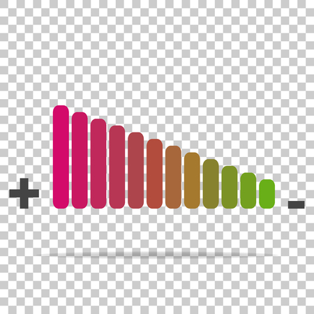 Vector icon adjustment of loudness on a transparent background