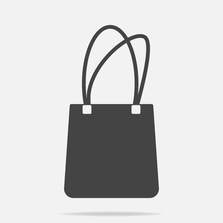 Hand bag icon on gray background vector illustration Stock Illustratie