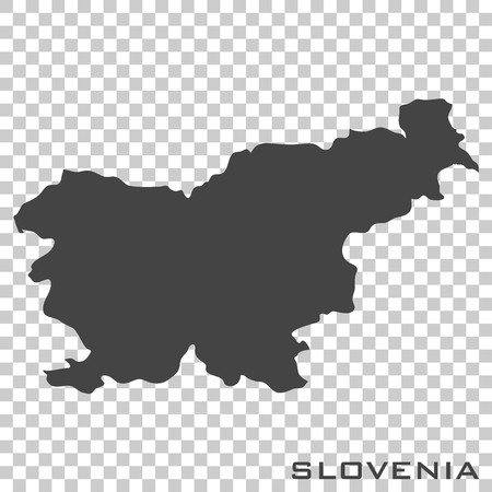Vector icon map of Slovenia on transparent background 일러스트