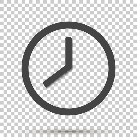 Clock icon on transparent background. 向量圖像