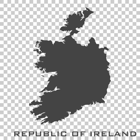 Vector icon map of Republic of Ireland on transparent background