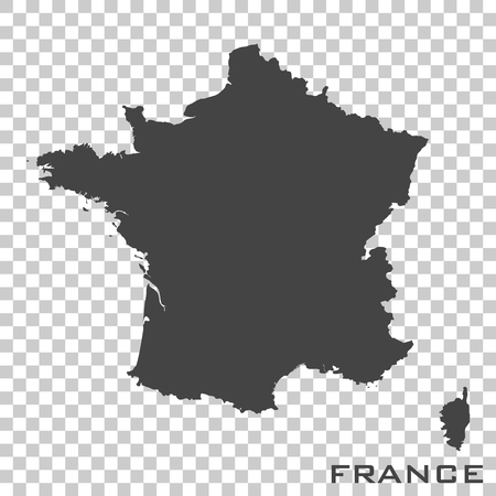 Vector icon map of France  on transparent background
