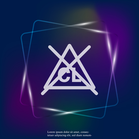 No chlorine vector neon light icon. Bleaching of tissue is impossible. Layers grouped for easy editing illustration. For your design.