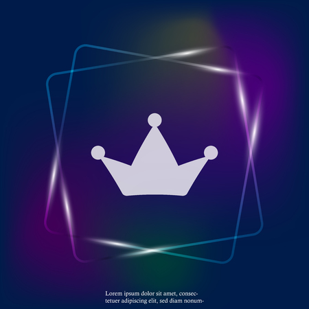 Crown vector neon light icon. The symbol of greatness. Layers grouped for easy editing illustration. For your design.