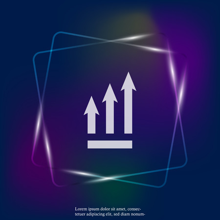 Growth graph. Vector business icon neon light schedule. Layers grouped for easy editing illustration. For your design. Stock Illustratie