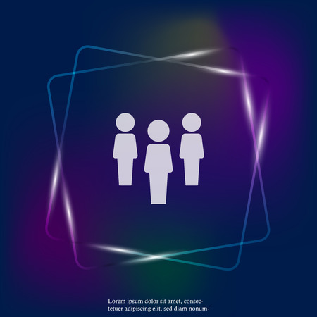 Vector neon light icon of a businessman. Businessman at work. Layers grouped for easy editing illustration. For your design.