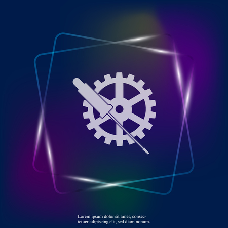 Vector Service tools neon light icon. Layers grouped for easy editing illustration. For your design.