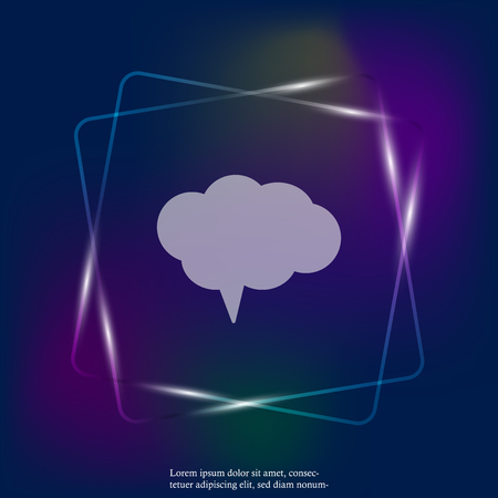 Vector neon light icon cloud conversation. Cloud of speech image. Layers grouped for easy editing illustration. For your design. Stock Illustratie