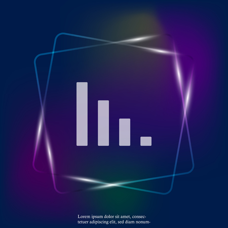 Vector graphic neon light image. Icon schedule for business. Layers grouped for easy editing illustration. For your design.