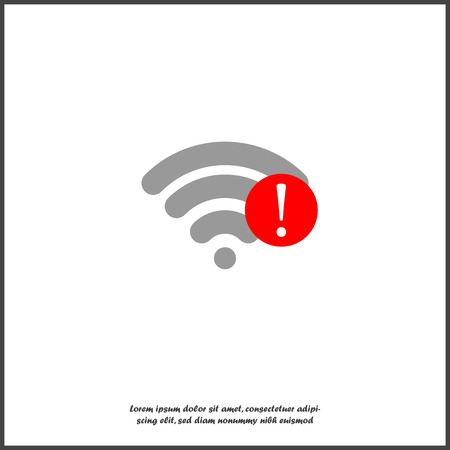 No WiFi vector icon on transparent  background. Wireless logo illustration. Lack of internet on white isolated. Layers grouped for easy editing illustration. Illustration