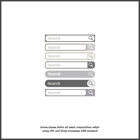 Search line. Vector image, element for design. Set the search bar for design on white isolated background.Layers grouped for easy editing illustration. For your design.
