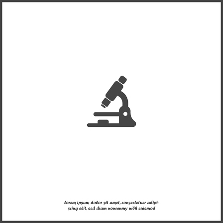Microscope vector icon. Llaboratory microscope on white isolated background. Layers grouped for easy editing illustration. For your design.