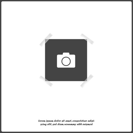 Vector image of a square frame for photos. Icons of an empty realistic photo frame on white isolated.  Layers grouped for easy editing illustration. Illustration