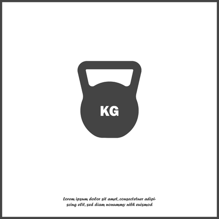 Vector weight icon. Weight symbol on white isolated background. Layers grouped for easy editing illustration. For your design.