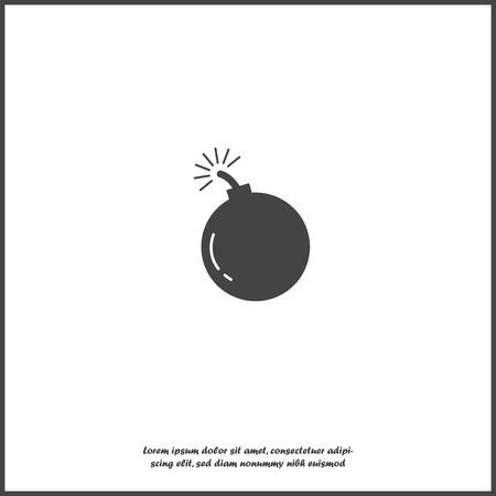 Vektorikonenbombe auf weißem lokalisiertem Hintergrund. Ebenen für die einfache Bearbeitung der Illustration gruppiert. Für Ihr Design Vektorgrafik