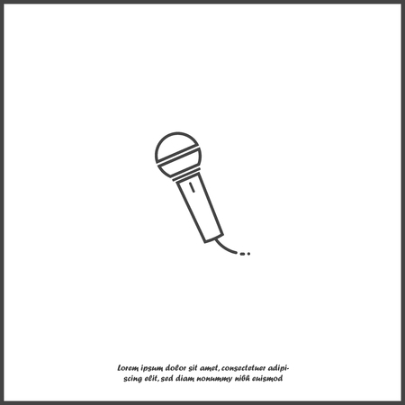 Vector image of microphone on white isolated background. Layers grouped for easy editing illustration. For your design.